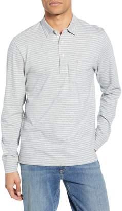 Faherty Bleecker Stripe Long Sleeve Pocket Polo