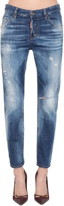 DSQUARED2 Cool Girl Straight Denim Jeans
