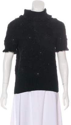 Oscar de la Renta Cashmere Embroidered Sweater