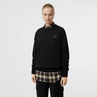 Burberry Crest Detail Cotton Sweatshirt, Black