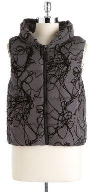 Calvin Klein Concealed Hood Printed Puffer Vest