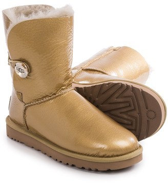 UGG® Australia Bailey Button Mirage Boots - Patent Leather, Sheepskin (For Women) $129.99 thestylecure.com