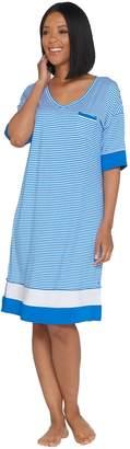 Cuddl Duds Smart Comfort Elbow Sleeve V-Neck Sleep Dress