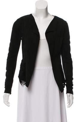 Veda Leather Long Sleeve Jacket