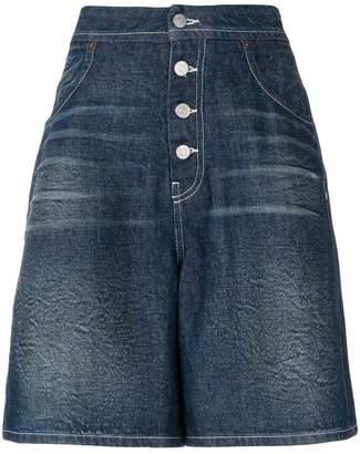 MM6 MAISON MARGIELA flared denim shorts