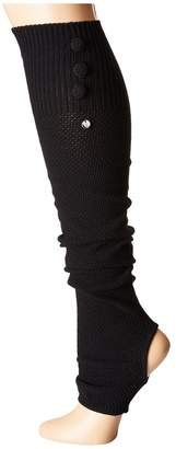 toesox Rae Leg Warmer Button Up-Open Heel Women's Crew Cut Socks Shoes