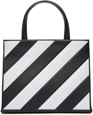 Off-White Black Small Diagonal Box Bag