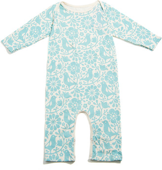 Winter Water Factory Organic Birds & Flowers Romper