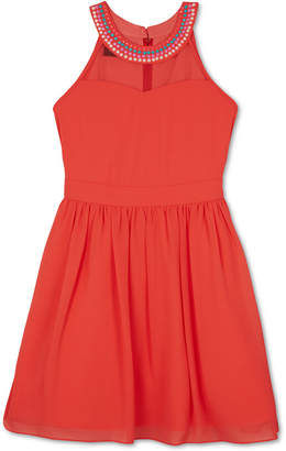 BCX Beaded-Neck Dress, Big Girls