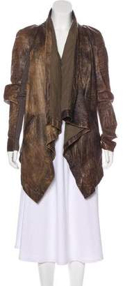 Rick Owens 2003 Distressed Leather Coat