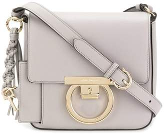 7a68888ab428 Global Free Shipping at Farfetch · Salvatore Ferragamo Gancio lock shoulder  bag