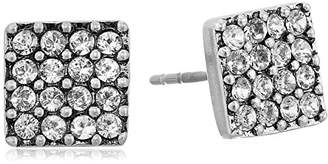 Marc Jacobs Sparkle Crystal Square Stud Earrings