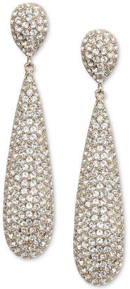 Nina Pave Elongated Drop Earrings