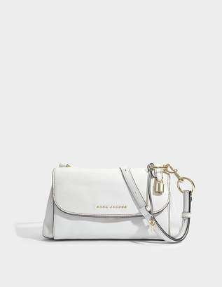 Marc Jacobs Boho Grind Crossbody Bag in White Glow Cow Leather