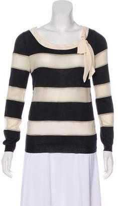 Christian Dior Striped Wool Top