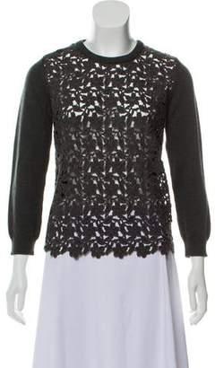 Dolce & Gabbana Guipure Lace Crew Neck Sweater