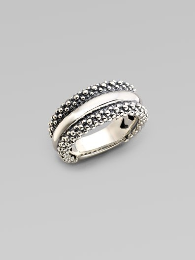 Lagos Sterling Silver Caviar Ring