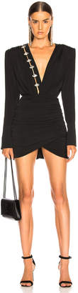 David Koma Ruched Jersey Mini Dress