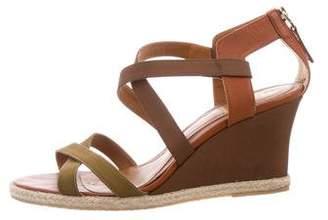 Fendi Crossover Wedge Sandals
