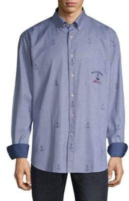 Paul & Shark Checkered Cotton Button-Down Shirt