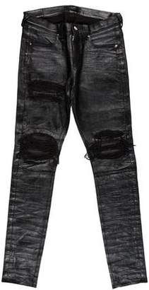 Amiri MX-1 Distressed Leather Pants