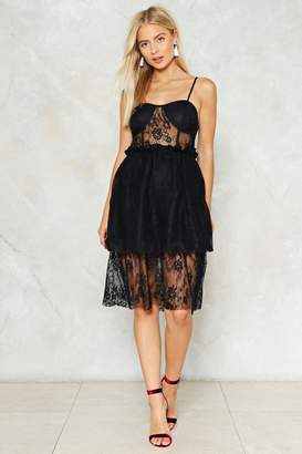 Nasty Gal Get Out of My Lace Midi Dress