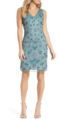 Pisarro Nights 3D Floral Embellished Sheath Dress (Regular & Petite)