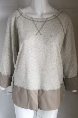 MUR Leather-Trim Crew-Neck Sweatshirt