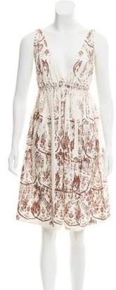 Miu Miu Printed Knee-Length Dress