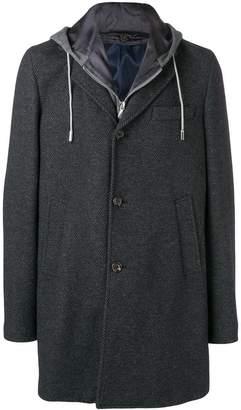 Eleventy layered hooded coat