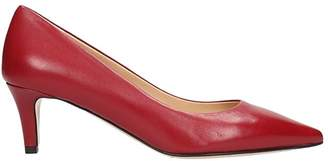 The Seller Red Leather Pumps