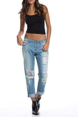 Elan International Jeggings Boyfriend Pants
