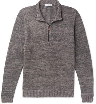 Linen Half-Zip Sweater