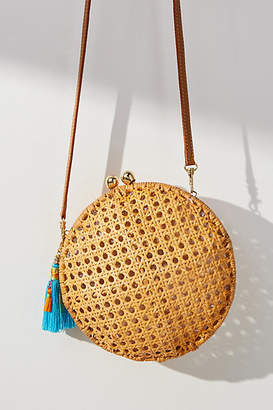 Serpui Marie Lizzie Round Wicker Bag