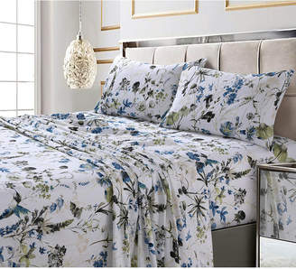 Tribeca Living Amalfi Printed 300 Tc Cotton Sateen Extra Deep Pocket Twin Sheet Set Bedding