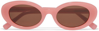 Elizabeth and James - Mckinley Oval-frame Acetate Sunglasses - Pink $185 thestylecure.com