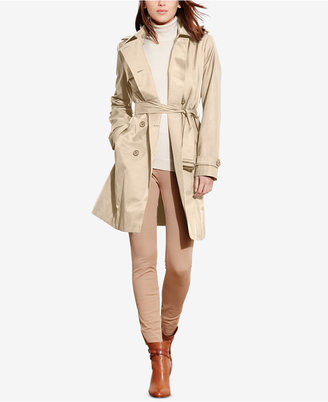 Lauren Ralph Lauren Double-Breasted Trench Coat, Only at Macy's $99.98 thestylecure.com