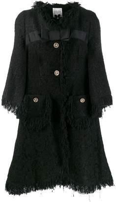 Edward Achour Paris lace panel coat