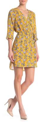 Daniel Rainn DR2 by 3\u002F4 Length Sleeve Faux Wrap Dress
