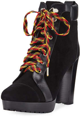 Veronica Beard Axel Lace-Up Platform Booties