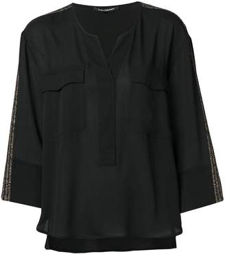 Luisa Cerano metallic side strap blouse