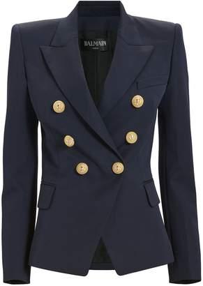 Balmain Classic Double-Breasted Navy Blazer