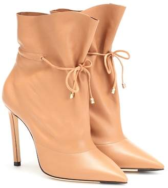 Jimmy Choo Stitch 100 leather ankle boots