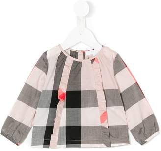 Burberry checkered blouse