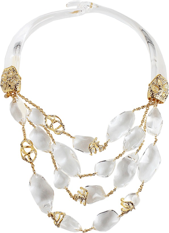 Alexis Bittar O'Keefe Three Strand Necklace