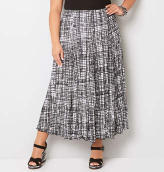 Avenue Abstract Grid Crinkle Skirt