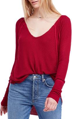 Free People Catalina V-Neck Thermal Top