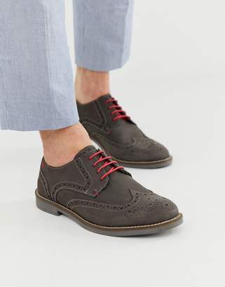 Silver Street suede formal shoes in gray