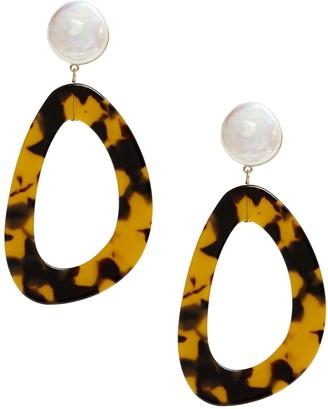 Banana Republic Freshwater Pearl Statement Earrings