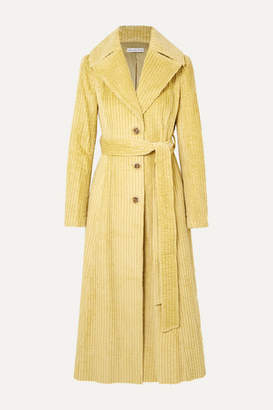 REJINA PYO Rhea Cotton-corduroy Trench Coat - Light green